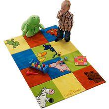 Kinderteppich Die Lieben Sieben Karo mehrfarbig