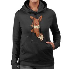 Cute Eevee Pokemon Women's Hooded Sweatshirt