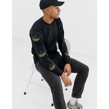 adidas Originals - Langärmliges Shirt mit Dreiblatt-Logo am Ärmel in Schwarz, DV3152 - Schwarz