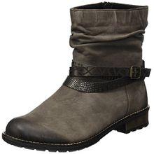 Remonte Damen R3354 Biker Boots, Grau (Bisam/Antik/Bronze/Altsilber/25), 37 EU