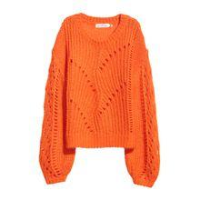 H & M - Pullover aus Mohairmischung - Orange - Damen