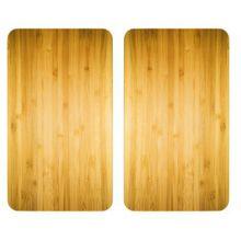 WENKO Herdabdeckplatte Universal Holz-Optik, alle Herdarten braun  Erwachsene