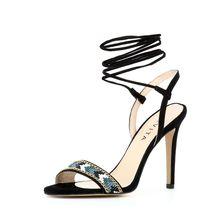 EVITA Damen Sandalette EVA Klassische Sandaletten schwarz Damen