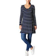 Noppies Damen Umstands Tuniken Tunic LS Alisa YD 70114, Mehrfarbig (Dark Blue C165), 38 (Herstellergröße:M)