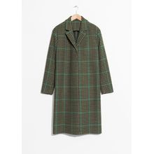 Wool Blend Long Coat - Black