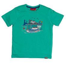 SALT AND PEPPER Jungen T-Shirt Police Uni Stick, Grün (Spring Green 650), 92 (Herstellergröße: 92/98)