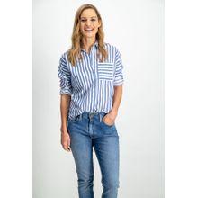 Garcia Klassische Bluse mit Streifen