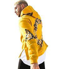Sannysis Herren Kapuzenpullover Sweatshirt Kapuzenpulli Männer Jacke Mantel Outwear Pullover (XL, Gelb)