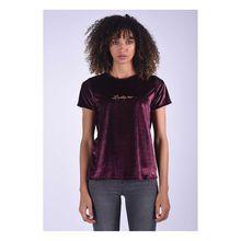 Kaporal T-Shirt Trio Raisin in eleganter Samtoptik T-Shirts bordeaux Damen