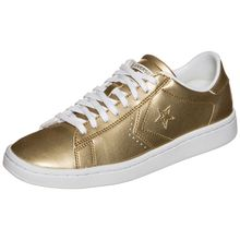 Converse Pro Leather LP Metallic OX Sneakers gold Damen