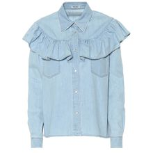 Bluse aus Denim