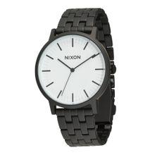 Nixon Armbanduhr 'Porter' schwarz / weiß