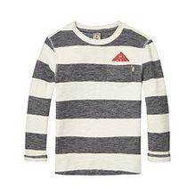 Scotch & Soda Shrunk Jungen Regular Fit T-Shirt Striped T-Shirt, Mehrfarbig (Combo B 218), Gr. 128 (Herstellergröße: 8)