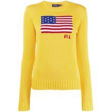Polo Ralph Lauren Pullover mit Logo-Stickerei - Gelb
