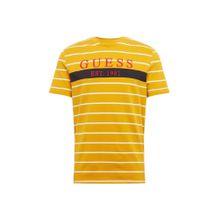 GUESS Shirt 'THEO' gelb / weiß