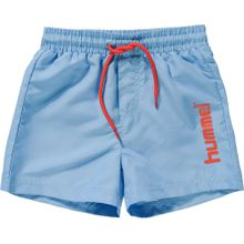 Hummel Boardshorts hellblau / neonorange