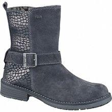 Lurchi Livia Tex Mädchen Leder Stiefel charcoal, mittlere Weite, Warmfutter, warmes Fußbett, 3737204/38