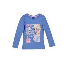 Disney Frozen - Die Eiskönigin Longsleeve T-Shirt Langarm Top (1453) - Langarmshirt Oberteil für Mädchen, 100% Baumwolle, Blau, Gr. 104