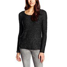 ONLY Damen Regular Fit Pullover Onlgeranium L/s NOOS KNT, Einfarbig, Gr. 40 (Herstellergröße: L), Schwarz