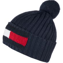 Tommy Jeans Beanie Big Flag in stylischem Design blau