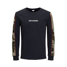 JACK & JONES Camo Sweatshirt Herren Blau