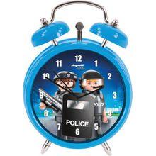 Wecker Playmobil Polizei hellblau