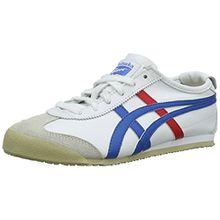 Onistuka Tiger Mexico 66 Unisex-Erwachsene Sneakers, Weiß (WHITE/BLUE 0146), 46 EU