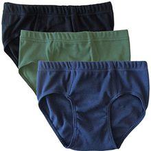 HERMKO 2850 3er Pack Jungen Slip aus 100% Bio-Baumwolle, Größe:128, Farbe:Mix s/m/o