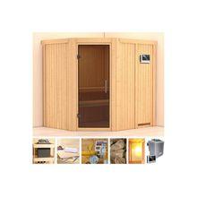 KONIFERA Sauna »Esther«, 196x170x198 cm, 9 kW Bio-Ofen mit ext. Strg, Glastür graphit