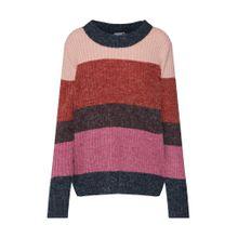 ICHI Pullover anthrazit / pink / rot