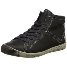 Softinos Damen Isleen Smooth Hohe Sneaker, Schwarz (Black), 39 EU