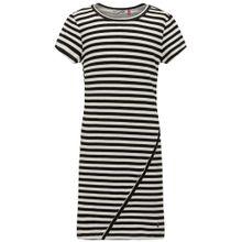Petrol Industries Kleid schwarz / weiß