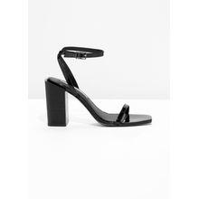 Patent Leather Sandalette - Black