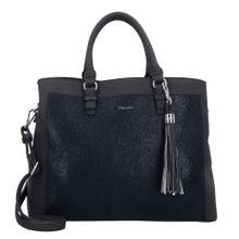 TAMARIS Handtasche 'Elsa' schwarz / schwarzmeliert