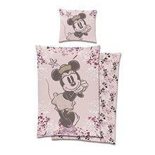 """Walt Disney Bettwäsche """"Minnie Mouse"""", Kopfkissenbezug: 80 x 80 cm mit Bettbezug: 135 x 200 cm, 100 % Baumwolle, Renforcé, trocknergeeignet"""