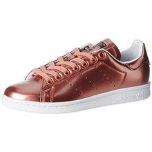 adidas Damen Stan Smith Sneaker, Braun (Copper Metallic/Copper Metallic/Footwear White), 41 1/3 EU