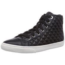 Geox D NEW CLUB A, Damen Hohe Sneakers, Schwarz (BLACKC9999), 41 EU