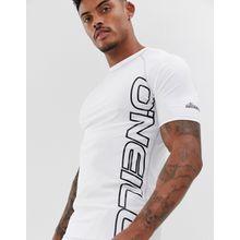 O'Neill - Skins - Kurzärmliges Rashguard in Weiß mit Logo - Weiß