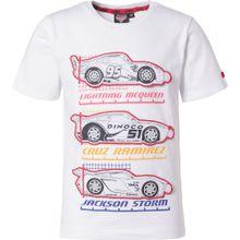 DISNEY T-Shirt 'Cars' mischfarben / weiß