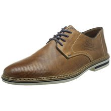 Rieker B1428 Lace-up-Men, Herren Derby Schnürhalbschuhe, Braun (toffee/navy/zimt/25), 44 EU