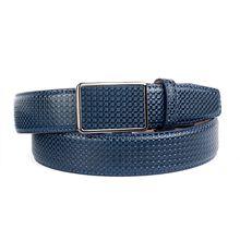 Anthoni Crown Ledergürtel mit Kreuzmuster Ledergürtel blau Herren