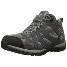Columbia Damen Redmond Mid Waterproof Damen Trekking- & Wanderhalbschuhe, Grau (Light Grey/Sky Blue 060), 39.5 EU