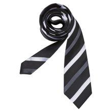 SEIDENSTICKER Krawatte 'Schwarze Rose' schwarz / weiß