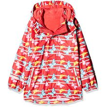 Sterntaler Kinder Mädchen gefütterte Regenjacke, 3in1 Multifunktionsjacke, Alter: 18-24 Monate, Größe: 92, Rot