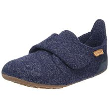 Bisgaard Unisex-Kinder Wool Velcro Slipper, Blau (20 Blue), 27 EU