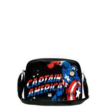 LOGOSHIRT Tasche 'Captain America' schwarz