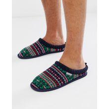 Dunlop – Fairisle – Bunte Hausschuhe-Mehrfarbig