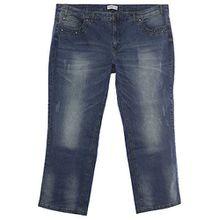 sheego Jeans Hose Die Gerade Damen Stretch Plusgröße Übergröße , Farbe:jeansblau;Damengrößen:56