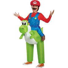 Kostüm Mario Riding Yoshi inflateable Child