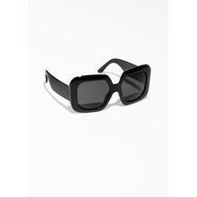 Wide Square Sunglasses - Black